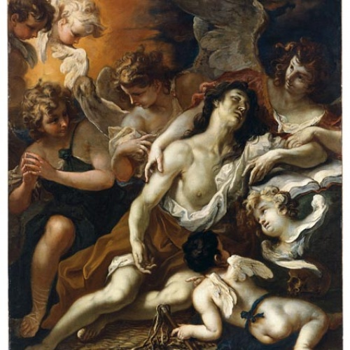 Sebastiano Ricci - La Magdalena confortada per àngels - Cap a 1694