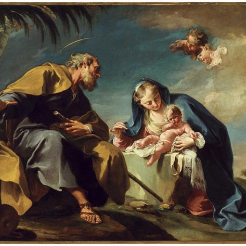 Giovanni Battista Pittoni - Descans en la Fugida a Egipte - 1725-1726