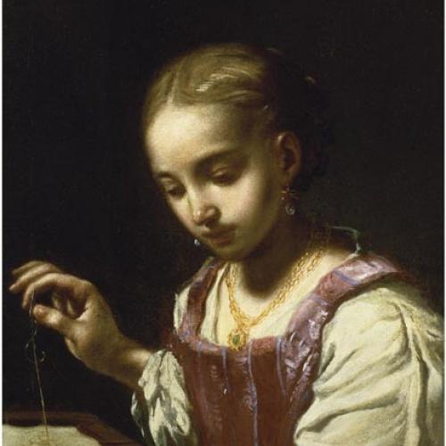 Antonio Amorosi - Nena cosint - Cap a 1720