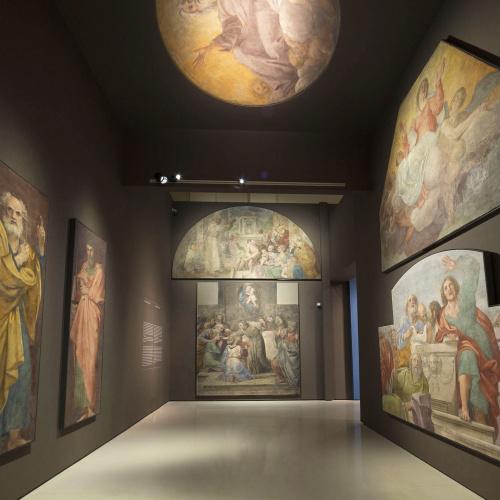 Annibale Carracci - Pinturas murales de la Capilla Herrera. Dedicada a san Diego de Alcalá - 1604-1606
